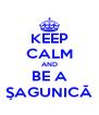 KEEP CALM AND BE A ŞAGUNICĂ - Personalised Poster A4 size