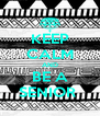 KEEP CALM AND BE A SENIOR  - Personalised Poster A4 size