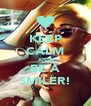 KEEP CALM AND BE A SMILER! - Personalised Poster A4 size
