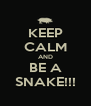 KEEP CALM AND BE A SNAKE!!! - Personalised Poster A4 size