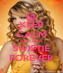 KEEP CALM AND BE A SWIFTIE FOREVER - Personalised Poster A4 size