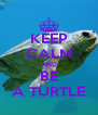 KEEP CALM AND BE A TURTLE - Personalised Poster A4 size
