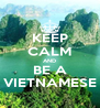 KEEP CALM AND BE A VIETNAMESE - Personalised Poster A4 size