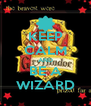 KEEP CALM AND BE A WIZARD - Personalised Poster A4 size