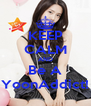 KEEP CALM AND Be A YoonAddict! - Personalised Poster A4 size