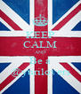 KEEP CALM AND Be a @yurilovers - Personalised Poster A4 size