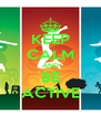 KEEP CALM AND BE ACTIVE - Personalised Poster A4 size