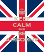 KEEP CALM AND BE AIRBORNE - Personalised Poster A4 size