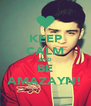 KEEP CALM AND BE AMAZAYN! - Personalised Poster A4 size