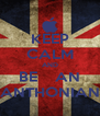 KEEP CALM AND BE    AN ANTHONIAN - Personalised Poster A4 size