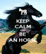 KEEP CALM AND BE AN HORSE - Personalised Poster A4 size