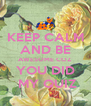 KEEP CALM AND BE AWESOME COZ YOU DID  MY QUIZ - Personalised Poster A4 size