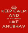 KEEP CALM AND BE AWESOME LIKE ANUBHAV - Personalised Poster A4 size