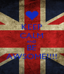 KEEP CALM AND BE AWSOME!!!! - Personalised Poster A4 size