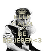 KEEP CALM AND BE BELIEBER<3 - Personalised Poster A4 size