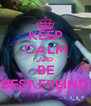 KEEP CALM AND BE BEST FREIND - Personalised Poster A4 size