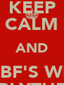 KEEP CALM AND BE BF'S WITH BLYTHE - Personalised Poster A4 size