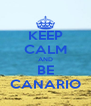 KEEP CALM AND BE CANARIO - Personalised Poster A4 size