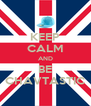 KEEP CALM AND BE CHAVTASTIC - Personalised Poster A4 size