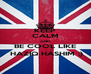 KEEP CALM AND BE COOL LIKE  HAZIQ HASHIM ;) - Personalised Poster A4 size