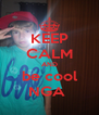 KEEP CALM AND be cool NGA  - Personalised Poster A4 size
