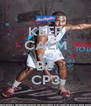 KEEP CALM AND Be CP3 - Personalised Poster A4 size