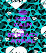 KEEP CALM AND BE CRAZY ANIMAL - Personalised Poster A4 size