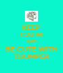 KEEP CALM AND BE CUTE WITH THUMPER - Personalised Poster A4 size