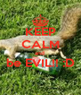 KEEP CALM and  be EVIL!! :D  - Personalised Poster A4 size