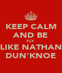 KEEP CALM AND BE FLY LIKE NATHAN DUN'KNOE - Personalised Poster A4 size