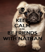 KEEP CALM AND BE FRIENDS WITH NATHAN - Personalised Poster A4 size