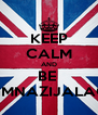 KEEP CALM AND BE  GIMNAZIJALAC  - Personalised Poster A4 size