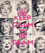 KEEP CALM AND BE GLAM - Personalised Poster A4 size