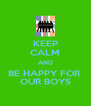 KEEP CALM AND BE HAPPY FOR  OUR BOYS - Personalised Poster A4 size