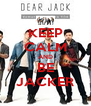 KEEP CALM AND BE JACKER - Personalised Poster A4 size