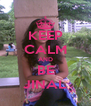 KEEP CALM AND BE JINAL - Personalised Poster A4 size