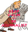 KEEP CALM AND BE JOURNALIST - Personalised Poster A4 size