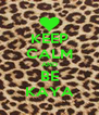 KEEP CALM AND BE KAYA - Personalised Poster A4 size
