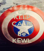 KEEP CALM AND Be KEWL - Personalised Poster A4 size