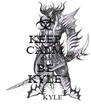 KEEP CALM AND BE KYLE - Personalised Poster A4 size