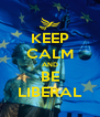 KEEP CALM AND BE LIBERAL - Personalised Poster A4 size
