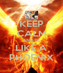KEEP CALM AND BE LIKE A PHOENIX - Personalised Poster A4 size