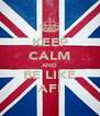 KEEP CALM AND BE LIKE AFI - Personalised Poster A4 size