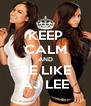 KEEP CALM AND BE LIKE AJ LEE - Personalised Poster A4 size
