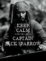 KEEP CALM AND BE LIKE CAPTAIN JACK SPARROW - Personalised Poster A4 size