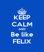 KEEP CALM AND Be like FELIX - Personalised Poster A4 size
