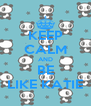 KEEP CALM AND BE LIKE KATIE - Personalised Poster A4 size