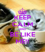 KEEP CALM AND BE LIKE ME!! - Personalised Poster A4 size