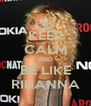 KEEP CALM AND BE LIKE RIHANNA - Personalised Poster A4 size