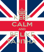 KEEP CALM AND BE LIKE SAJITHA - Personalised Poster A4 size
